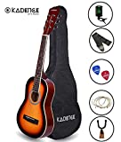 Kadence Professional Kids Guitar 5-10 Years Sunburst, With Bag, Strap, Strings, Picks, Guitar Wallmount Stand And Tuner