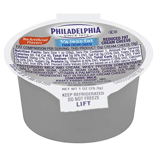 Philadelphia Light Cream Cheese Cups 1 ounce (Pack of 100)