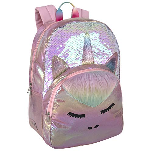 dELiAs Girls Middle School Girl Backpack – Rainbow Backpacks for Girls, Teens, School (Holgraphic Glitter Unicorn)