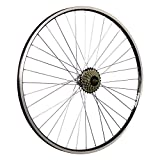 Taylor-Wheels 28 Zoll Hinterrad Laufrad ZAC19 / 7 Fach Shimano Schraubkranz - schwarz