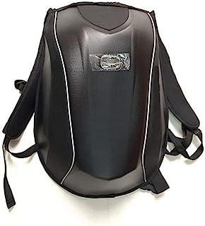LG Snow Una Bolsa de cáscara Dura, Bolso de cáscara Dura de Fibra de Carbono Real, Mochila de Caballero, Motocicleta de Carreras, Bandolera de Motocicleta
