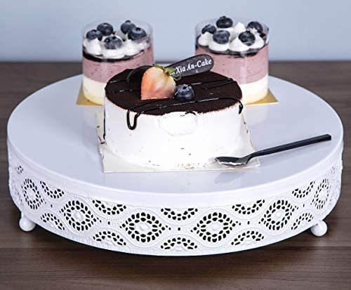 URANMOLE Cake Stand Round Metal Cake Stands Dessert Display Cupcake Stands, 18K Gold 038 Cake Stand - 10