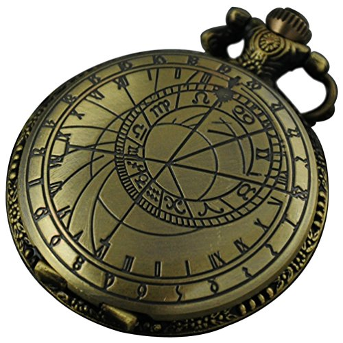 VIGOROSO Doctor Who Astronomy Vintage Retro Steampunk 48mm Pocket Watch Necklace with Box