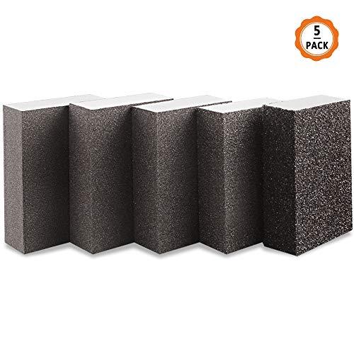 5pcs Esponjas de Lijado Esponja de Lija Húmeda y Seca Taco Abrasivo de Lijado Manual para Lijar a Mano de 5 Diferente Grano Taco Abrasivo para Madera Metal Automóvil Muebles