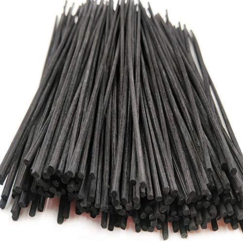 Palo difusor de lengüeta 100pcs Reed Fragancia Fragancia Difusor de Aceite Reemplazo Palos Bambú Ratán 3.0 * 230mm Reemplazo Aroma Stick para fragancias Difusor Aroma difuso (Color : Black)