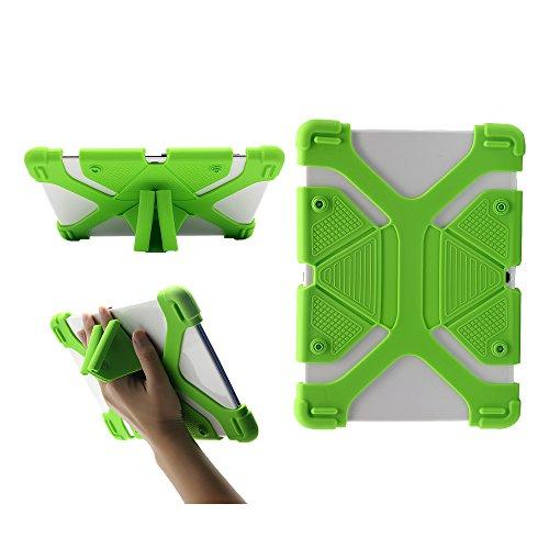CHIN FAI Custodia per Tablet PC Universale 9.7 10.1 10.5 10.5 per iPad PRO Air Custodia in Silicone Morbida per Samsung Kindle RCA Kindle con Supporto (Verde)