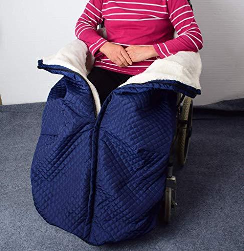 Fleecig gefütterter Rollstuhl-Beinsack, wasserdicht, für Rollstuhlfahrer, wärmende Decken für Kälteschutz und Wärme, Rollstuhl-warme Decken für Kältebehandlung