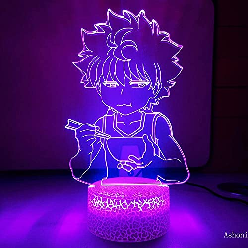 Lámpara de ilusión 3D, luz de noche Led, diseño de personajes de anime, lámpara de mesa de iluminación, regalo de cumpleaños para niño y niña, dormitorio, mesita de noche, decoración de escritorio