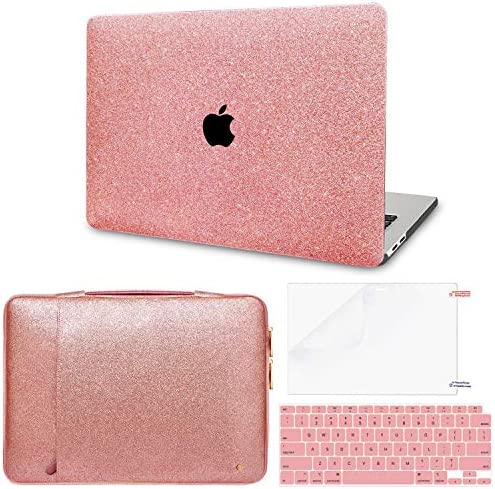 MacBook Air 13 inch Case Model A2337 M1 A2179 A1932 with Sparkly Leather Pink Sleeve MacBook product image