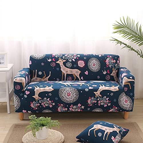 PPOS Fundas de sofá elásticas de celosía para Sala de Estar Funda de sofá elástica para Silla de Esquina Funda de sofá en Forma de L Funda Protectora de Polvo D16 3 Asientos 190-230cm-1pc