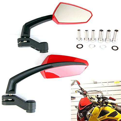 Tuning_Store The Best Accessories for Tuning and Upgrading Your Iron Horse  Pair Red Custom Motorcycle Bike Rearview Side Mirrors for Motorcycle GROM MSX 125