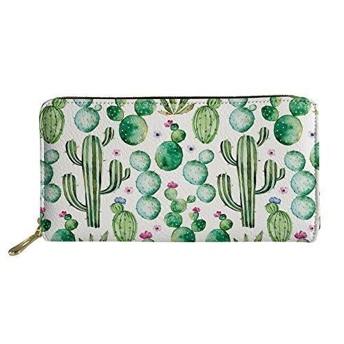 UFDIS Portafoglio Frizione Modello Animale Portafoglio RFID Carte di Credito per Donne Ragazza Multicolore Cactus taglia unica