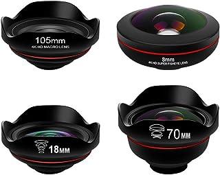 AEDWQ Phone Camera Lens, 4 in 1 Lens Set, 4K HD 3.5X Telephoto Lens, 0.5X Ultra Wide-Angle Lens, 20x Macro Lens, 238 ° Fis...