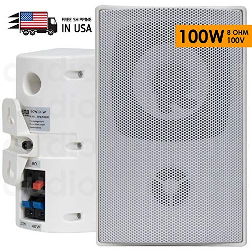 For Sale! New EMB ECW10 100 Watts Full Range Outdoor Speaker/Environmental/Monitor (1 Speaker) White...