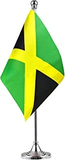 Best GentleGirl Jamaica Jamaican Table Flag,Desk Flag,Office Flag,International World Country Flags Banners,Festival Events Celebration,Office Decoration,Desk,Home Decoration Review