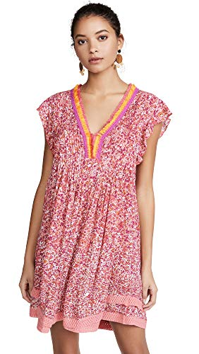 Poupette St Barth Women's Sasha Mini Dress, Pink Glory, Large