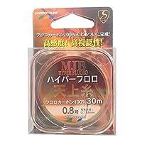 SHIMOTSUKE(シモツケ) フロロカーボンライン MJB ハイパー天上糸 30m 0.8号 1.83kg フラッシュピンク