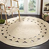 Safavieh Natural Fiber Round Collection NF364B Handmade Boho Charm Farmhouse Jute Area Rug, 3' x 3' Round, Ivory