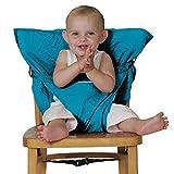 外出先で活躍! 椅子用固定帯 ベビー用品 持ち運び便利 ポータブル コンパクト チェアベルト◇SACKN-SEAT (スカイブルー)