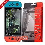 Orzly Glass Screen Protectors compatible with Nintendo Switch - Premium Tempered...