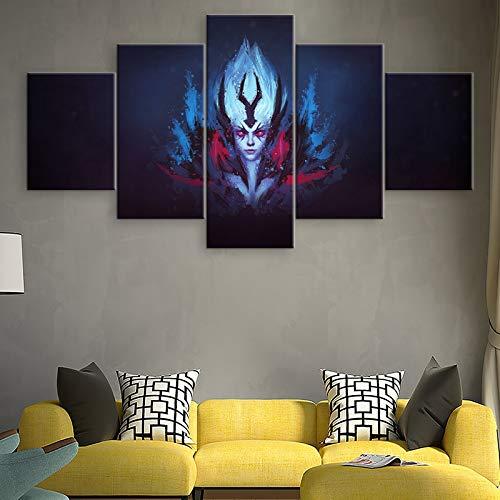 Sakkdaull 5 stuks muurkunst schilderij koningin van pijn canvas gedrukt spel poster wooncultuur voor woonkamer moderne kunstwerken afbeeldingen