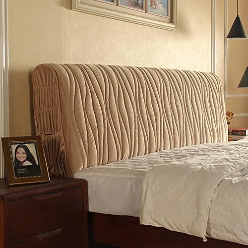 Cubierta para Cabecero De Cama, Funda para Cabecero De Cama, A Prueba De Polvo, Protector De Cabeza De Cama, Color Sólido, Decoración De Dormitorio. (Marrón,150cm)
