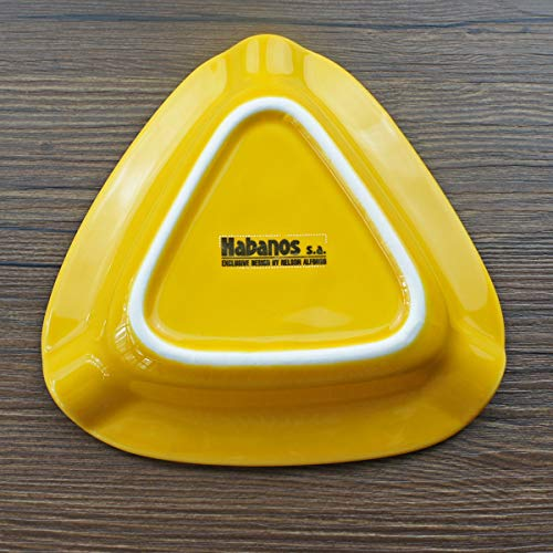JH/& Cigar Ashtray Large Outdoor Ceramics Cigars Ashtray for Patio//Outside//Indoor Ashtray Yellow
