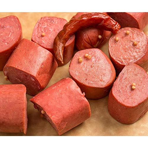 Troyer Old-Fashioned Pickled Smoked Bologna USA Made Ready to Eat 2 Jars