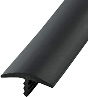 Outwater Industries 25 Foot Black 3/4 Inch Center Barb Tee Moulding T Molding Hobbyist Pack, Small Projects, Arcade Machines and Tables
