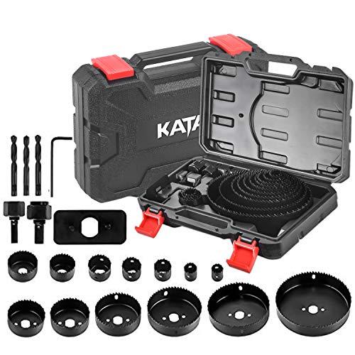 KATA Hole Saw Set 20 PCS Hole Saw Kit with 3/4
