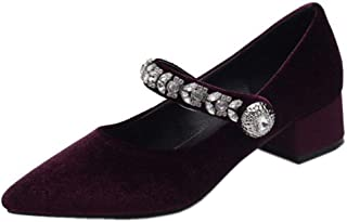 FANIMILA Women Comfort Low Heel Mary Jane Shoes