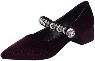 FANIMILA Women Comfort Low Heel Mary Jane Shoes