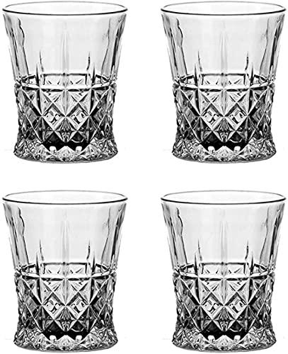ADIS Whiskey glazen heldere wijnglazen set van 4 stuks 210 ml-set van 4 luxe_275 ML