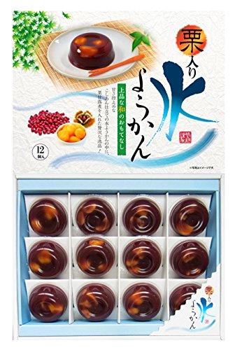 桃太郎製菓『12個 栗入り水ようかん』