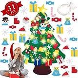 Árbol De Navidad De Fieltro, Árbol De Navidad En Fieltro para Niños ,Árboles De Navidad Decoración del Hogar con 31 Ornamentos Desmontables,Decoración De Navidad para Paredes Puertas del Hogar