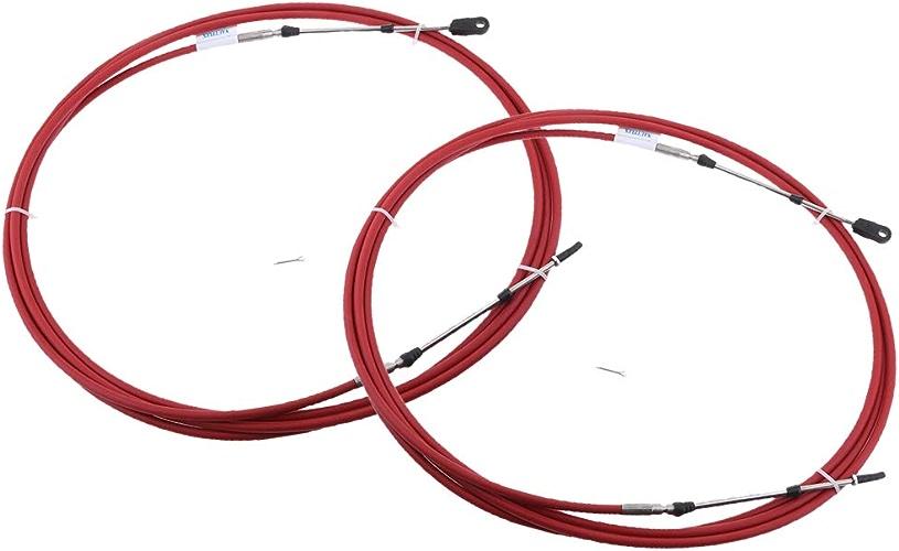 Homyl 2Pcs 26Ft Cable D'accélérateur de Hors-Bord Pièce de RemplaceHommest