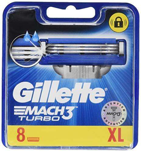 Gillette MACH3Turbo Klingen für Herren Rasierer, 8Stück