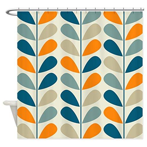 eikleom Retro Muster Duschvorhang 180x 180cm wasserdicht Polyester