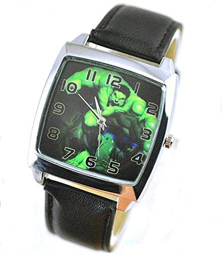 Products Just4U Unisex Uhr Analog Quarzwerk mit Silikon Armband The Incredible Hulk Schwarz
