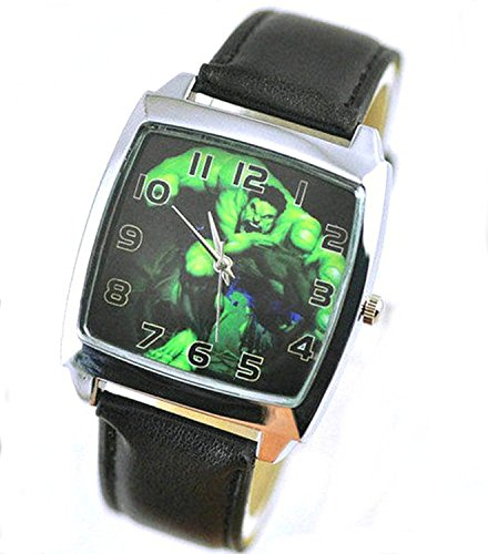 Products Just4U Unisex Uhr Analog Quarzwerk mit Silikon Armband The Incredible Hulk Schwarz