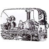 Bolsa para brochas de maquillaje personalizable, bolsa de aseo portátil para mujer, bolso cosmético, organizador de viaje, grabado antiguo