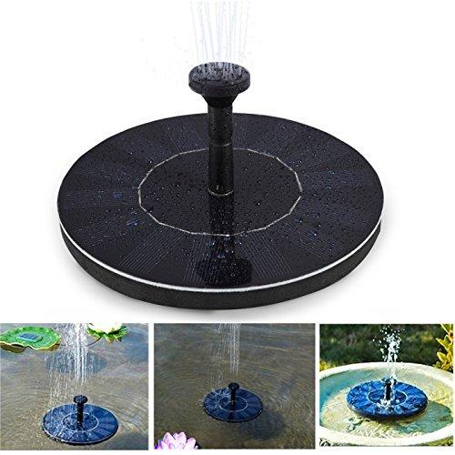 Soledi Fontein op zonne-energie, werkt automatisch, geen planten, zwempomp, water, zonnepaneel, tuin, tuinirrigatie, fontein, zwembad voor vijver of tuin.