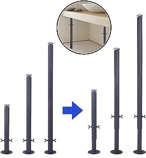 DGXQ 4×Adjustable Height Legs Bar Breakfast Worktop Foot Support Kitchen Legs,11.8″/19.6″/27.5″Coffee Table Legs,antirust