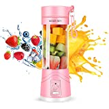 Moer Sky Portable Juicer Blender, MS-2 Household Fruit Mixer - Six Blades in 3D, 380ml Fruit Mixing Machine with USB Charger Cable for Superb Mixing, USB Juicer Cup (B), Large
