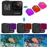 Neewer 3 Filtri da Immersione per GoPro Hero 7/6/5 –Attaccato a Lenti GoPro Direttamente-Aumenta Colore per Video subacqueo e Fotografia a Immersione e Immersioni in subacquea Rosso Rosa Magenta