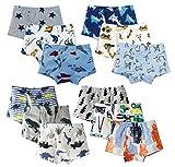 XNN Soft Cotton Baby Toddler Underwear Little Boys' Assorted Boxer Briefs(Pack of 12)