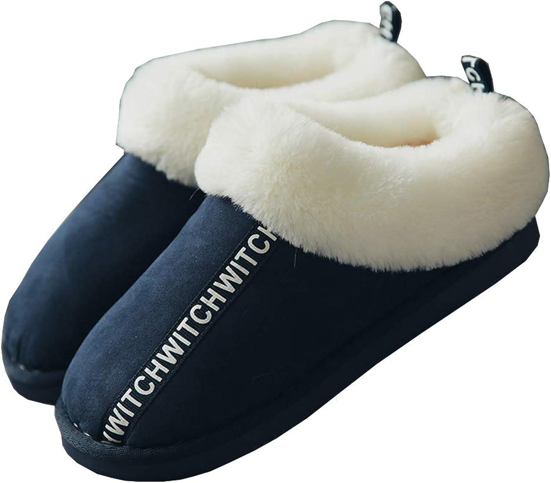 DKKK Womens Plush Cotton Slip-on Home Slipper Short Winter Suede Boot Warm shoes
