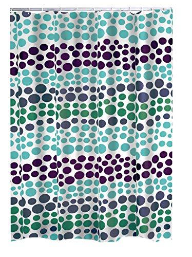 RIDDER Duschvorhang Folie Layer grün-blau 180x200 cm