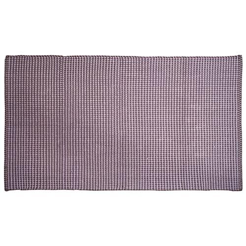 LAMARE Alfombra Koti - Color Gris - 80 x 140 cm - 100% algodón Natural