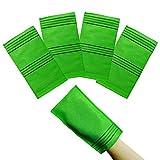 NOPIGO The Original Korean Exfoliating Mitt Body Scrub Bath Washcloth (Long 4) Green